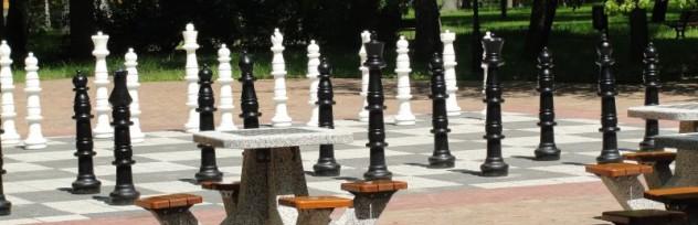 Plenerowe szachy w Parku Zdrojowym