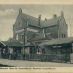 Dworzec na zdjęciu z XIX w.