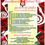 PLAKAT  festiwal róż 2018