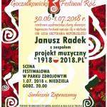 PLAKAT  festiwal róż 2018 Radek