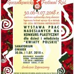 PLAKAT  festiwal róż 2018 kon. plast