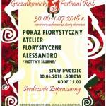 PLAKAT  festiwal róż 2018 pokaz flor