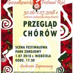 PLAKAT  festiwal róż 2018 przegląd chórów
