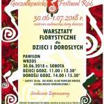 PLAKAT  festiwal róż 2018 warszt,=. flor.