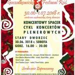 Plakat festiwal koncertowy spacer